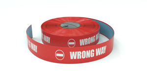 Traffic: Wrong way Horizontal - Inline Printed Floor Marking Tape