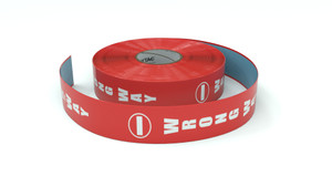 Traffic: Wrong way Vertical - Inline Printed Floor Marking Tape