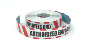 Restricted Area: Authorized Employees Only - Inline Printed Floor Marking Tape