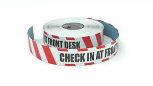 Restricted Area: Check In At Front Desk - Inline Printed Floor Marking Tape