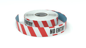 Restricted Area: No Entry - Inline Printed Floor Marking Tape