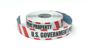 Restricted Area: U.S. Government Property - Inline Printed Floor Marking Tape