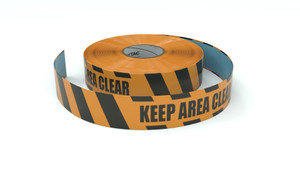 Hazard: Keep Area Clear - Inline Printed Floor Marking Tape