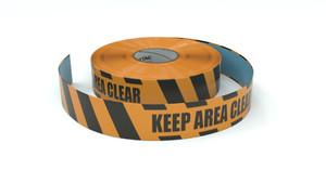 Hazard: Keep Area Clear - Inline Printed Floor Marking Tape