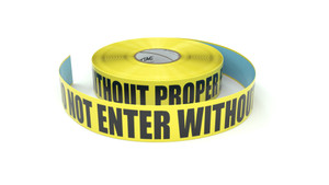 ESD: Attention! Do Not Enter Without Proper ESD Equipment - Inline Printed Floor Marking Tape