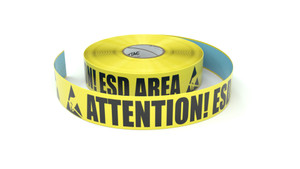 ESD: Attention! ESD Area - Inline Printed Floor Marking Tape