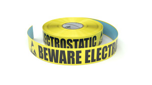 ESD: Beware Electrostatic - Inline Printed Floor Marking Tape