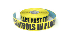 ESD: ESD Controls In Place Past This Line - Inline Printed Floor Marking Tape