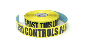 ESD: ESD Controls Past This Line - Inline Printed Floor Marking Tape