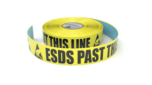 ESD: ESDS Past This Line - Inline Printed Floor Marking Tape