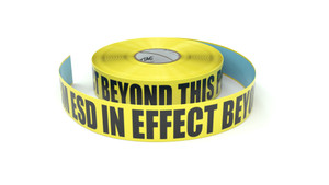 ESD: HBM ESD In Effect Beyond This Point - Inline Printed Floor Marking Tape