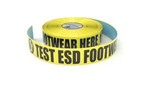 ESD: Test ESD Footwear Here - Inline Printed Floor Marking Tape