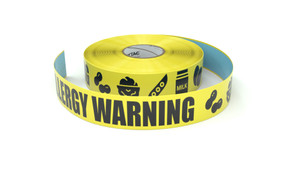 Food: Food Allergy Warning All Symbols - Inline Printed Floor Marking Tape