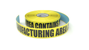 Food: Manufacturing Area Contains Milk - Inline Printed Floor Marking Tape