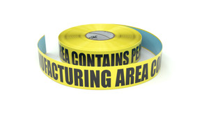 Food: Manufacturing Area Contains Peanuts - Inline Printed Floor Marking Tape