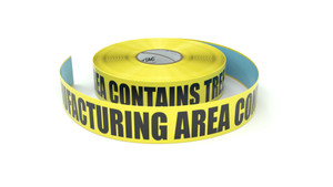 Food: Manufacturing Area Contains Tree Nuts - Inline Printed Floor Marking Tape