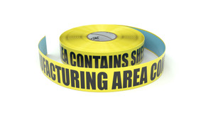 Food: Manufacturing Area Copntains Shellfish - Inline Printed Floor Marking Tape