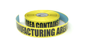Food: Manufacturing Area Contains Soy - Inline Printed Floor Marking Tape