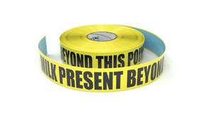 Food: Milk Present Beyond This Point - Inline Printed Floor Marking Tape