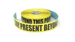 Food: Soy Present Beyond This Point - Inline Printed Floor Marking Tape