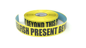 Food: Shellfish Present Beyond This Point - Inline Printed Floor Marking Tape