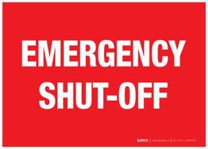 Emergency Shut-Off - Label