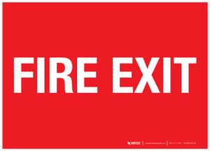 Fire Exit - Label