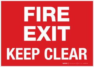 Fire Exit - Keep Clear - Label