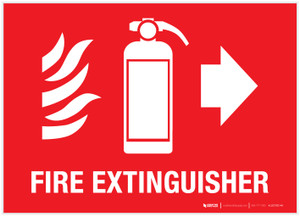 Fire Extinguisher with pictograms - Label