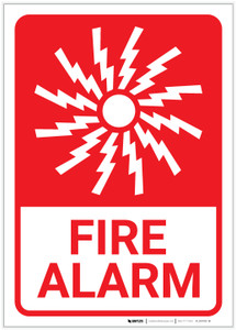 Fire Alarm with Icon Portrait - Label