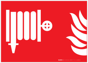 Fire Hose Standpipe Symbol NFPA Landscape - Label