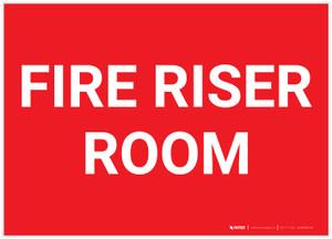Fire Riser Room Landscape - Label