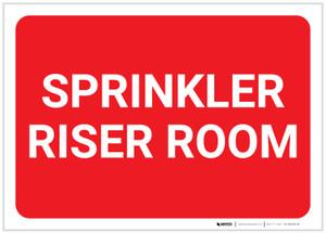 Sprinkler Riser Room Red Landscape - Label