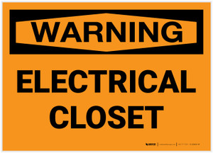 Warning: Electrical Closet - Label