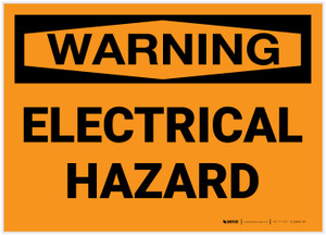 Warning: Electrical Hazard - Label
