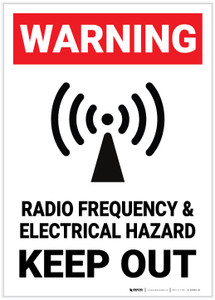 Warning: Radio Frequency and Electrical Hazard - Label