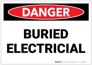 Danger: Buried Electrical - Label
