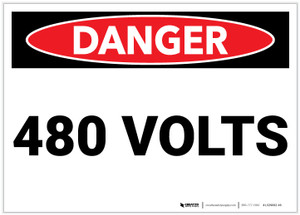 Danger: 480 Volts - Label