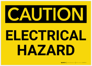 Caution: Electrical Hazard - Label