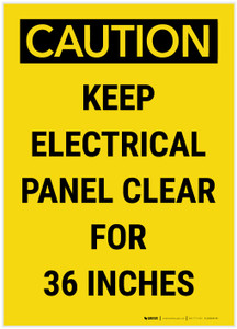 Caution: Keep Electrical Panel Clear for 36 Inches - Label