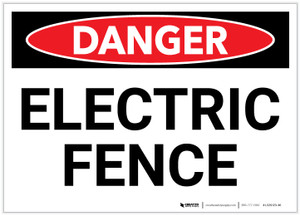 Danger: Electric Fence - Label