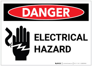 Danger: Electrical Hazard with Graphic - Label