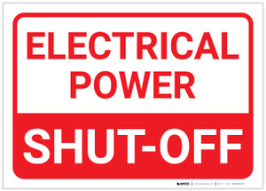 Electrical Power Shut Off Landscape - Label