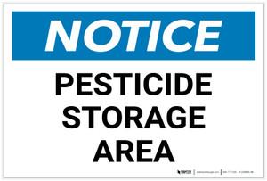 Notice: Pesticide Storage Area - Label