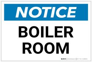 Notice: Boiler Room - Label