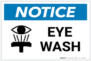 Notice: Eye Wash with Icon - Label