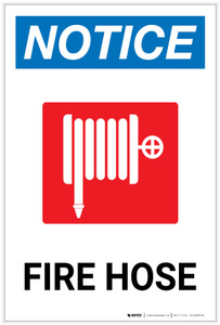 Notice: Fire Hose with Icon - Label