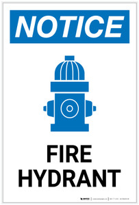 Notice: Fire Hydrant with Icon Portrait - Label