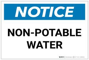 Notice: Non-Potable Water Landscape - Label