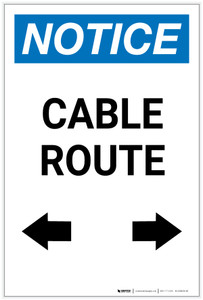 Notice: Cable Route with Arrows Portrait - Label
